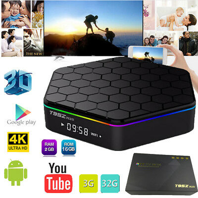 T95Z Plus S912 Octa Core 2GB 16GB Android 7.1 Smart TV Box Dual 2.4/5GHz WIFI 4K