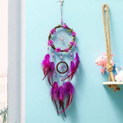 Wisteria Flower Dream Catcher Wall Hanging  Decoration Decor Bead Ornament