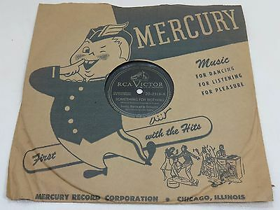 """Collectible RCA Victor 78 RPM Record 10"""" - Freddy Martin - Something for Nothing"""