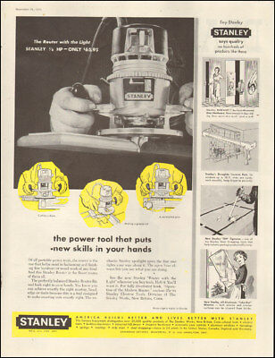 1959 Vintage ad for Stanley Tools`retro photo Router.   (050618)