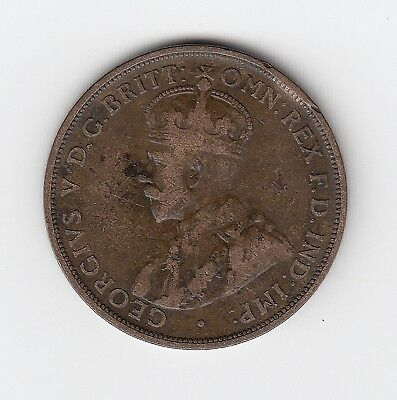 1915H 'clipped Edge' Error Kgv Aust Penny - Very Nice Low Mintage Error Coin