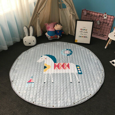 Kids Baby Gym Game Play Activity Mat Soft Crawling Blanket Rug Toys Storage Bag