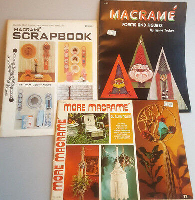 Macrame pattern books Forms and Figures More Macrame and Scrapbook 56 projects