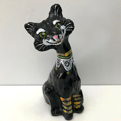 Fenton Art Glass Halloween Clown Boo Alley Cat Gloss Black Hand Painted : alley cat costume  - Germanpascual.Com