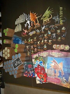 HeroScape Hex Tiles Figures Game Pieces Large Lot 'The Battle of All Time'