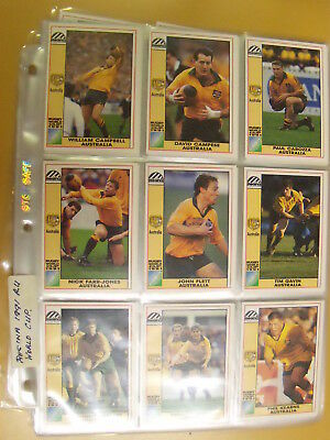 Regina 1991 Rugby World Cup Collectors Cards. Full set. 166 Cards. FT Post