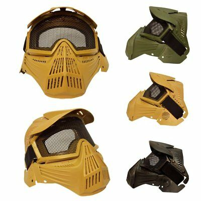 Sports Full Face Protection Safety Mask Airsoft Paintball Guard Pellet Goggles