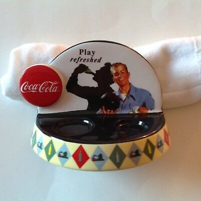 """2000 Vandor Coca Cola """"Play Refreshed"""" Salt and Pepper Display Stand Only"""