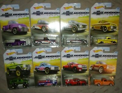 Hot Wheels 100 Years Chevrolet Trucks Complete 8 Truck Set CHEVY NO RESERVE