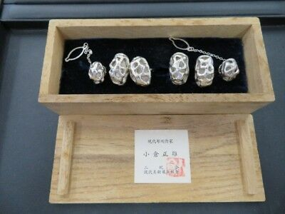 Cuff-links and tiepin made of pure silver. 2 sets (for 2 people).#54g/ 1.90oz.