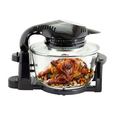 Sentik Digital Halogen Oven 12 Litre with Hinged Lid & Accessories Pack