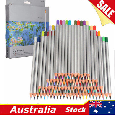 72 PCS Charcoal Watercolour Pencils Tin Painting  Soluble Non-toxic Art Drawing