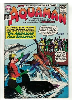 DC Comics AQUAMAN Vol 1 No 3  SILVER AGE  justice league  FN+ 6.5 Atlantis