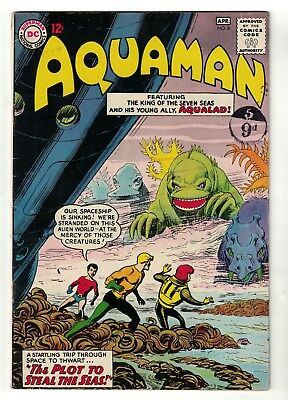 DC Comics AQUAMAN Vol 1 No 8  SILVER AGE justice league  4.5 VG+