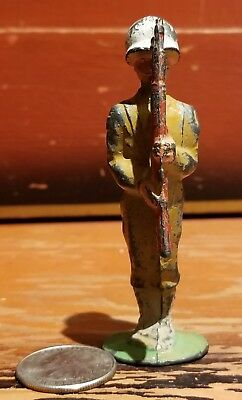 Manoil Barclay Hollowcast Lead Dimestore Toy Soldier At Attention W/ Rifle M180