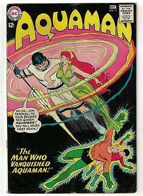 DC Comics AQUAMAN Vol 1 No 17  SILVER AGE justice league  4.5 VG+ 1964