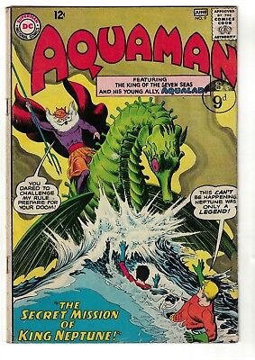 DC Comics AQUAMAN Neptune No 9  SILVER AGE justice league  4.0 VG