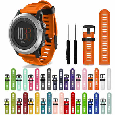 Replacement Wrist Band Silicone Watch Band Strap Tool for Garmin Fenix 3 / HR 5X