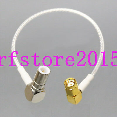 "RG316 6"" Push-Pull Slide BNC/TNC Plug to RP.SMA 90° Male Oscilloscope Test Cable"