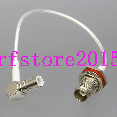 "RG316 6"" Quick Push-Pull Slide BNC/TNC Plug to TNC Jack Oscilloscope Test Cable"