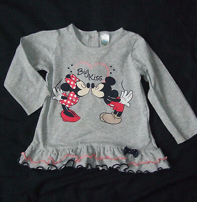 Disney ♥ Minnie & Mickey-Mouse ♥ Tunika Kleid mit Rüschen-Saum Gr.80 TOP