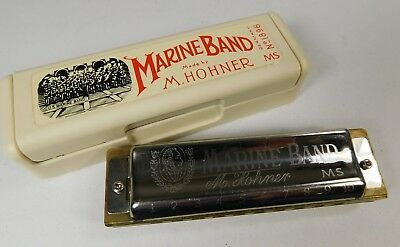 "M Hohner  ""Marine Band"" MS No. 1896 Harmonica in Box with instructions"