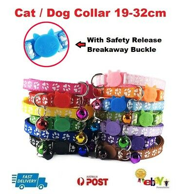 12X Dog Cat Collar Pet Puppy Kitten Adjustable Harness Neck Strap with Bell