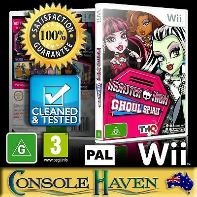 (Wii Game) Monster High: Ghoul Spirit (G) PAL, Guaranteed, Cleaned, Tested