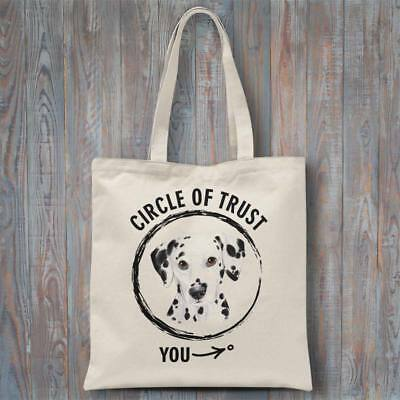 Funny tote bag CIRCLE OF TRUST (Dalmatian) 37x40cm dog lover gift