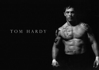 Tom Hardy poster - print - #7 - Hollywood legend - A4 297mm x 210mm.
