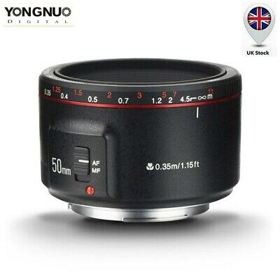 New Version Yongnuo YN 50mm F 1.8 II AF MF Prime Fixed Lens for Canon / UK Stock