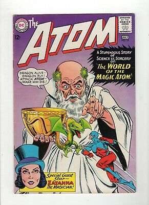 The Atom #19 VG+ 4.5 Off White Pages 2nd Zatanna