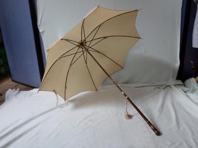 BRIGG Vintage Umbrella With Tassel And Leaf Detailing Recovered by James Smith