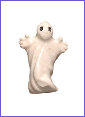 27 By 20Mm Peruvian Hand Crafted Ceramic Ghost Beads WHITE 3 Per Pack