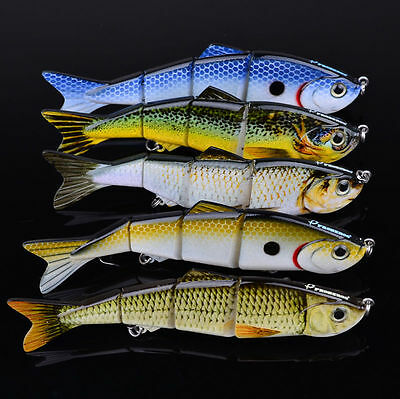 5pcs/Lot Fishing Lure Jointed Lures 4 Sections Swimbait Baits Tackle 19g-12.7cm