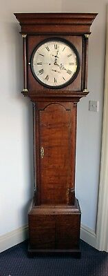 Upjohn, London. 8-day Silver Dialled Longcase Clock