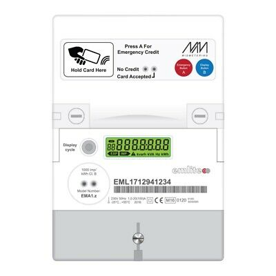 Emlite MP21-RFID Prepayment Electricity Card Meter Landlord Flat House Property