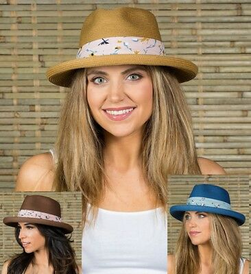 Women s Summer Fedora Floppy Hats for Beach Camping Vacation Travel Fishing 10a07ac25a0c