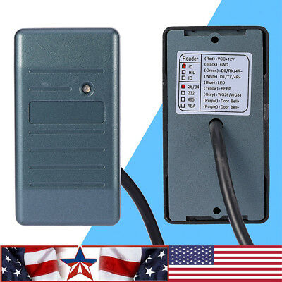 RFID EM ID Card Access Control Reader 125KHz for Wiegand 26/34 Interface  US