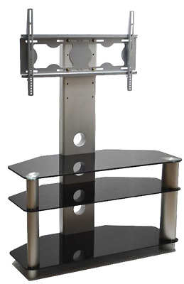 Mountright Cantilever Glass TV Stand With Support Bracket 32 Up To 60 Inch