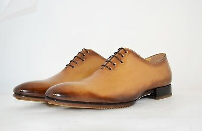 MAN-8eu-9us-PLANE OXFORD-TAN CALF-VITELLO COL. CUOIO-RUBBER SOLE-SOLA GOMMA