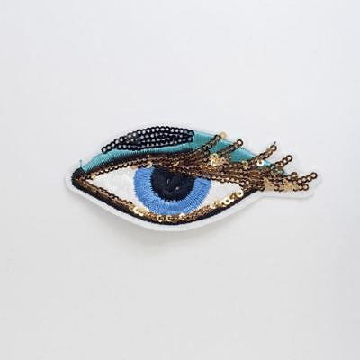 Sequin Eyes Small (Iron On) Embroidery Applique Patch Sew Iron Badge