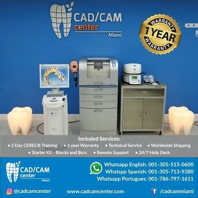 Complete SIRONA CEREC® System - Intraoral Camera + Milling Unit + Ivoclar Oven