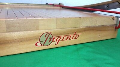 """Vintage Ingento No. 4 Guillotine Paper Cutter Trimmer 12""""X12"""" USA"""