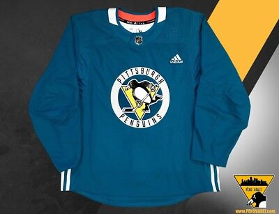 PITTSBURGH PENGUINS AUTHENTIC Adidas Team Issued practice jersey ...