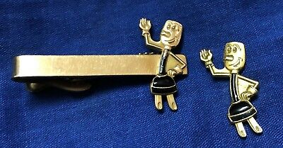 Vintage Willie Wire Hand Electric Company Pin Tie Tack Lapel Clasp 1/20 12K G.f.