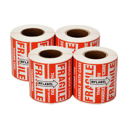 2000 Fragile Stickers 2x3 Handle with Care Thank You 500 / Roll Warning Label
