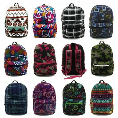 Wholesale for Resale Padded Backpacks Lot of 24 assorted Bookbags Back to School