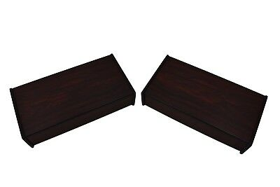 Pair of Danish Wall Mounted Single Drawer Rosewood Bedside Tables