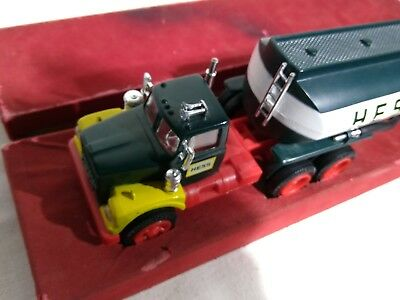 1967 USA Hess Tanker Truck LIGHTS WORK! Red Velvet Box included EXC condition